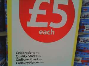 Celebration, Quality Street, cadbury Roses, Cadbury Heros All just £5 @Tesco