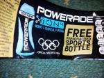 Get a powerade water bottle with your name on it when buying a powerade