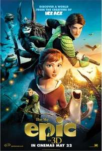 Epic / The Croods / Ice Age 4 / Oz The Great And Powerful / The Smurfs only £1 this weekend @ Cineworld