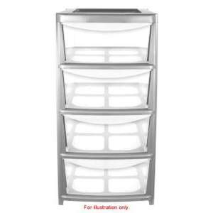 4 drawer silver storage unit £25 @ B&M