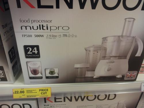 Kenwood Multi Pro FP580 £22 instore at Tesco