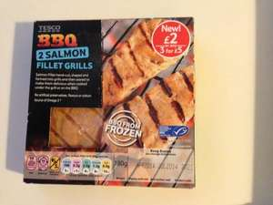 Tesco 2 BBQ Salmon Fillet Grills for a £1 each, INSTORE ONLY