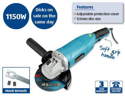 ALDI 1150W 125mm Angle Grinder £12.50