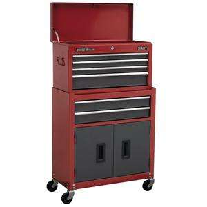 Sealey Topchest & Rollcab Combination 6 Drawer With Ball Bearing Runners Red/Grey AP2200BB @ Tools4Trade - £95