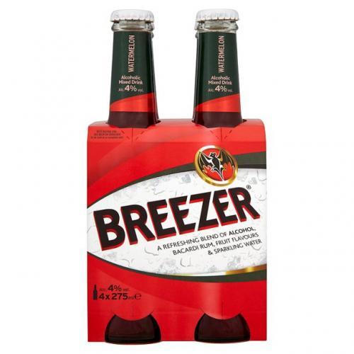 Bacardi breezer 4x 275ml £2.49 @Tesco