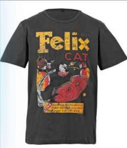 Felix the Cat Men's Grey T-Shirt - £3.59 @ Argos.co.uk