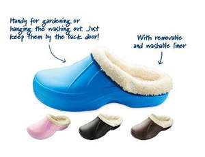 Warm Lined Clogs - Mid Blue/Light Pink/Black/Brown, Size 4-11 - £4.99 - instore Aldi from Thurs 12th Sept