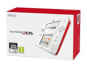 Nintendo 2DS wiith charger and 4GB SD card  - White and Red OR Black and Blue for £99.99 with code  @ GAME
