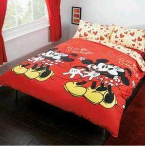 Disney Mickey And Minnie Double Duvet Cover Set 9 Tesco Direct Also Eeyore Tinkbell Graffiti