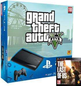 PlayStation 3 Super Slim Console (500 GB) - Black - The Last of Us and GTA V @ Zavvi - £199.99