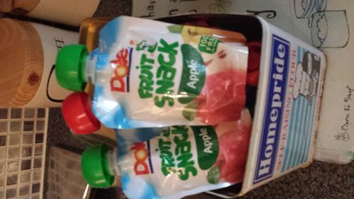 Dole fruit snack pouch 19p - 39p each @ Tesco