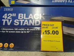 "42"" Black TV Stand from Tesco reduced to £15 (instore)"