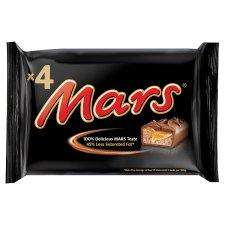 Tesco Instore : 4 Pack of Mars Bars for 89p