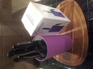 knife block / holder. bristle type takes variable size blades. £15 @ Tiger stores, Basingstoke - £15