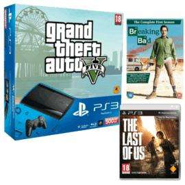 Playstation 3 500GB + GTA V + The Last of Us + Breaking Bad S1 - £184.99 @ GAME (with code)