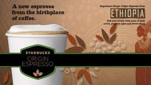 Free 'Ethiopia Origin Espresso' Latte at Starbucks this Tuesday & Wednesday