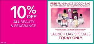 Fragrance Goody Bag  Free with any two beauty or fragrance purchases @ Debenhams Today Only