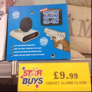 Shooting Alarm Clock £5.00 @ Home Bargains