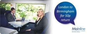 London to Birmingham return for 50p @ Chiltern Railways