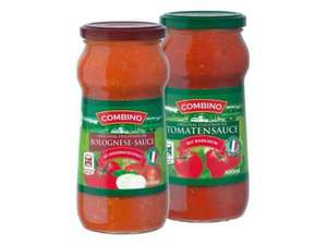 Lidl own brand Combino pasta sauce with mushrooms 500g for 59p