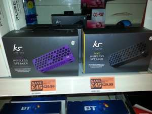 KitSound Hive Bluetooth Wireless Portable Stereo Speaker for iPhone/iPad/Android/Windows Devices - £29.99 Sainsburys instore