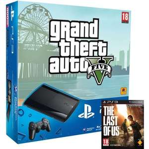 Zavvi outlet via Play.com - PS3 Sony PlayStation 3 Slim Console 500 GB - Black - Includes - The Last of Us and GTA V - £179.99 Deal of the day 24 hours only