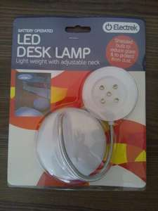 Electrek Battery Operated 5 Led Desk Lamp  £1 @ Poundland