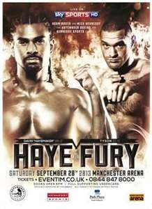 Haye v Fury Weigh-in Tickets, pay only a £2.50 admin fee