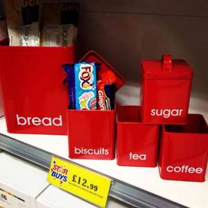 Bread Bin and Canister set- Only £12.99 @ Home Bargains