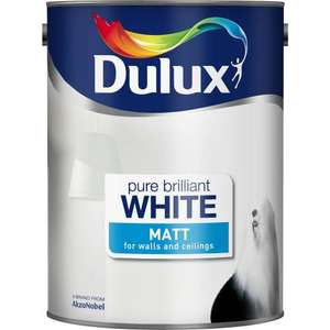 Dulux Matt or Silk Pure Brilliant White- 5L @ ASDA £10