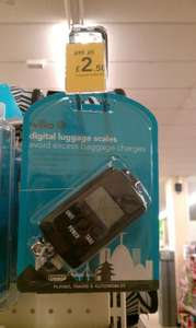Digital travel luggage scales reduced from £10 to £2.50 @ Wilko instore
