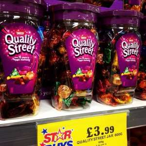 Quality Street 600g Jar- £3.99 @ Home Bargains