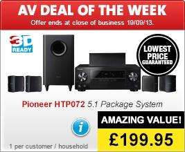 PIONEER HTP-072 5.1 HDMI 3D AV Receiver with 4K Pass Through + Speaker Package with HD Audio £199.95 @ richerSOUNDS