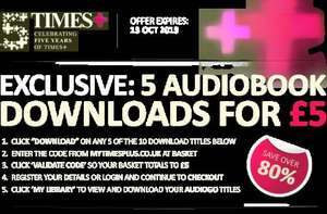 AudioGo 5 Audio Books for £5 (usual value £48.40) Jane Eyre, Attenborough, Andy McNab