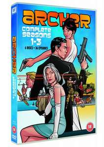 Archer Seasons 1-3 DVD Box Set £21.89 @ Amazon UK