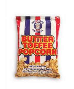 Uncle Sam's Original Butter Toffee Popcorn 300g  only 79p @ Home bargains