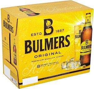 16 pint bottles of Bulmers Original or Pear Cider for £10.00 (plus delivery) at Ocado