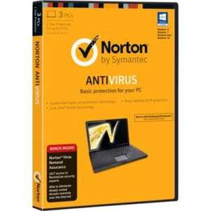1 Year Norton AntiVirus with Virus Remover - 3 Users @ Argos £14.99