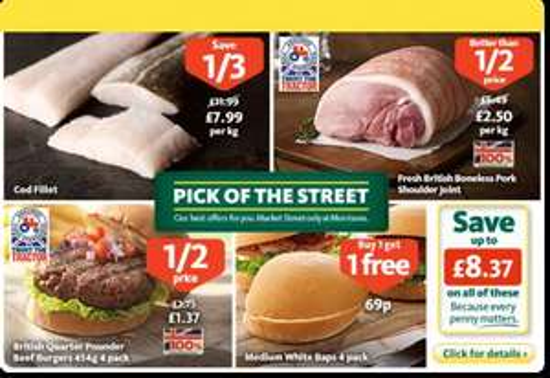 1/2 Price Fresh British Boneless Pork Shoulder Joint - £2.50/kg @ Morrisons
