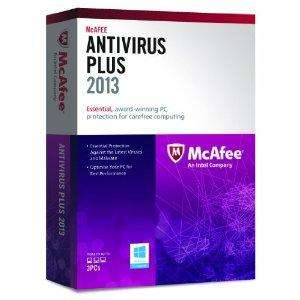 McAfee AntiVirus Plus 2013 - 3 PCs, 12 month Subscription (PC) £9.40 @ Amazon