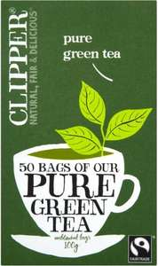 Clipper Green Tea, 50 bags 73p @ Co-op