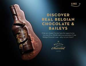 Try free sample of new Baileys Chocolate Luxe