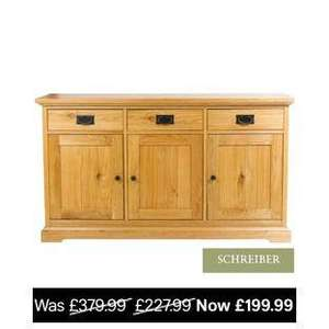 Schreiber Rustic Large Sideboard Knotty Oak WAS £227 then £199 NOW £107.95 Delivered with code @ homebase