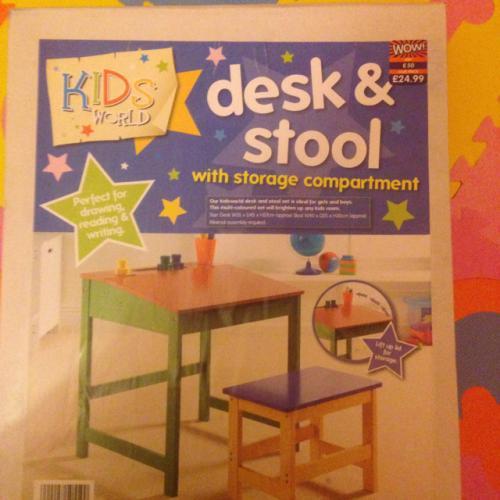 Kids world desk & stool - £24.99 @ B&M