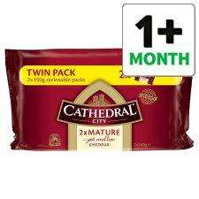 Cathedral City Mature 2 X 350G for £3.74 Tesco