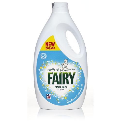 Fairy non bio liquid half price at Wilkinson's £5 for 45 washes