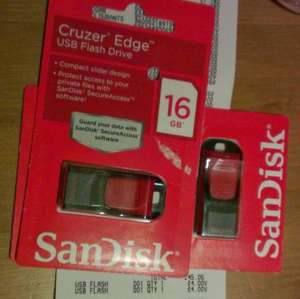 Sandisk Cruzer Edge 16GB £4 @ Asda