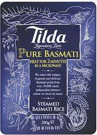 Tilda Steamed Basmati Rice Microwaveable Pouches (250g) - 79p @ Morrisons