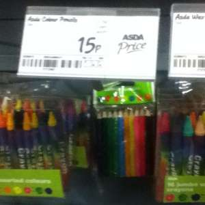 Colouring pencils - 15p instore @ ASDA