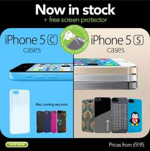 Free Screen Protector with iPhone 5s & 5c cases @ Proporta
